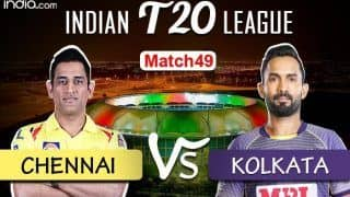 LIVE IPL 2020 CSK vs KKR Scorecard, IPL Today's Match Live Score And Updates Online Match 49: Chennai Ready to Play Spoilsport as Desperate Kolkata Eye Victory